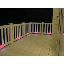 Paradise Stainless Steel Multi Color Led Deck Light Kit 6