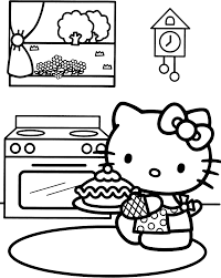 Small Picture Printable 21 Hello Kitty Happy Birthday Coloring Pages 6309