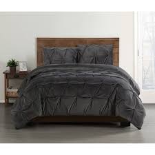 this review is from everyday pleated velvet grey king comforter set