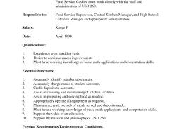 Server Qualifications Resume Job Resume Sample Fine Dining Server