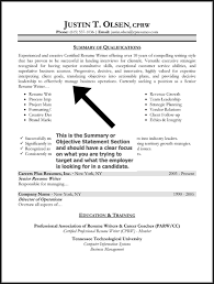 Objective Sentence For Resume