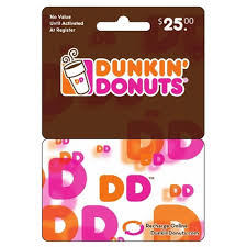 dunkin donut gift card balance all