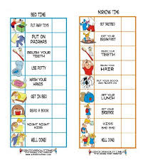Kids Daily Routine Chart Child Therapy Toys Ez Kids Routines Set 1 Morning Time