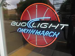 March Madness Bud Light Neon Beer Sign March Madness Basketball Bud Light