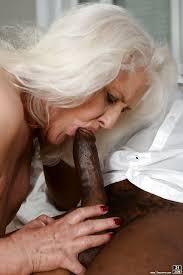 Grannies suck black cock