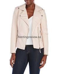 max studio simple faux leather asymmetrical jacket qq41382 slipper pink women clothing