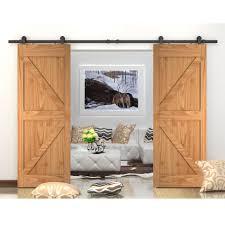 2019 Top Mount Double Sliding Wooden Door Track Hardware 10 Ft
