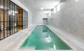 Minimalist swimming, Best Indoor Design Swimming Pools Moden Grey Luxury  Models Lamp Water Blue Fresh