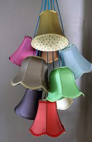 Colorful Lampshade Cluster Light