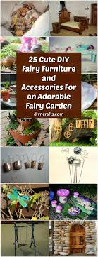 furniture fairy. 25 Cute DIY Fairy Furniture And Accessories For An Adorable Garden