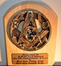 superb quality masonic plaque trophy a masonic gift for any masonic ocion