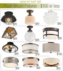 flush mount fixtures 100 or less lighting for low ceilingsceiling