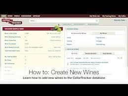Wine Tracker How To Create A New Wine Youtube