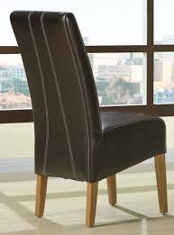 stylish enhance a touch of class to your house with brown leather dining brown leather dining room chairs plan