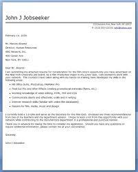 film internship cover letter examples cover letters for internship