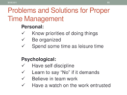 Problem Solution In Time Management Essay College Paper