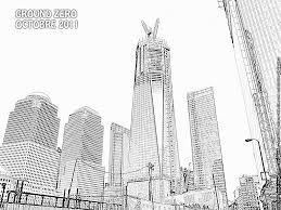 Coloriage New York Ground Zero Imprimer Pour Les Enfants