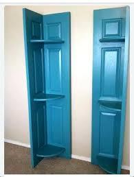 old closet doors made into corner shelves door shelf vine