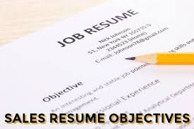 What Is Objective On A Resume Sample Sales Resume Objective
