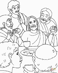 Small Picture Last Supper Of Jesus coloring page Free Printable Coloring Pages