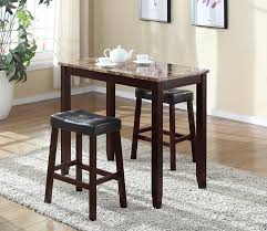 Furniture Kitchen Tables Amazoncom Roundhill Furniture 3 Piece Counter Height Glossy