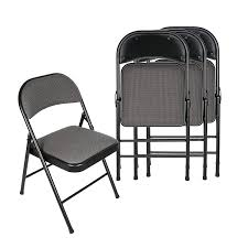 amazon apex garden deluxe fabric padded folding chair set of 4 black grey kitchen dining