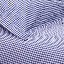 gingham duvet set navy cot bed