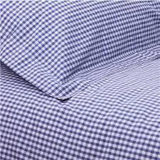gingham fitted sheet navy cot bed