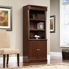 sauder palladia select cherry storage open bookcase