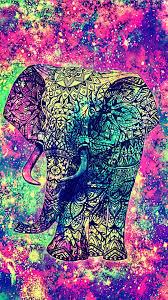 Home Screen Galaxy Elephant Wallpaper
