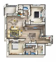 Surprising Studio Apartment Floor Plans Furniture Layout - Rental apartment one bedroom apartment open floor plans
