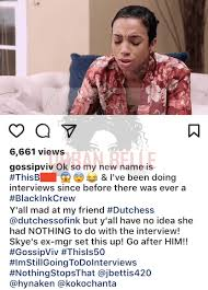 calling back after interview dutchess claps back at sky and black ink crew producers
