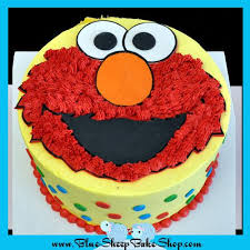 Elmo 1st Birthday Cake Blue Sheep Bake Shop