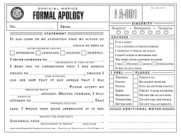 formal apology letter apology letter  formal