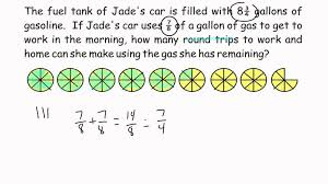 Grade Problem Solving Dividing Fractions Word Problem YouTube ...