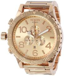gold watches for men nixon best watchess 2017 gold men watches nixon s 51 30 chrono watch rose tone