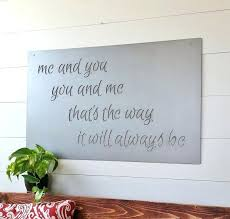 large metal custom e sign and sayings inspirational personalized steel wall art decor phrases