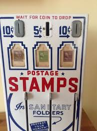 Post Office Stamp Vending Machine Interesting Shipman Manufacturing Co Vintage ThreeSlot US Post Office Stamp