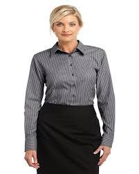 Oxford Shirt Size Chart Red House Rh65 Ladies Non Iron Pinpoint Oxford Stripe Button Down