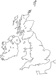 blank map united kingdom. Brilliant Map The British Isles Outline Map With Blank Map United Kingdom D
