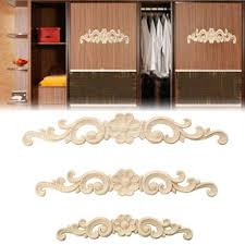 wood furniture appliques. 1PC New Decorative Floral Wood Carved Decal Corner Appliques Frame Wall Doors Furniture Woodcarving Wooden Figurines