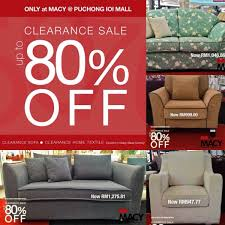 Macy Home Furnishings Sofa and Textile Clearance discount up to 80