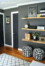 gray wall decor ideas charcoal on the walls trim is simply white target rug wood plank