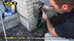 How To Install Low Voltage Lighting Transformer How To Install A Low Voltage Landscape Lighting Transformer Volt
