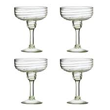 amici home a7mcr048s4r clara collection margarita glass mexican artis handmade glassware recycled