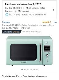 retro mint green microwave
