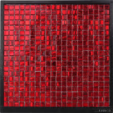 gs20 15 red ice jade mosaic restrurant decorate wall tiles red glass mosaic