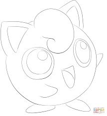 Pokemon Coloring Pages Jigglypuff Printable Coloring Page For Kids