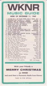 1969 Music Charts Wknr Dearborn Mi 1969 12 11 In 2019 Music Charts Dj