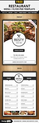 30 restaurant and food menu flyer templates designyep restaurant menu flyer psd template